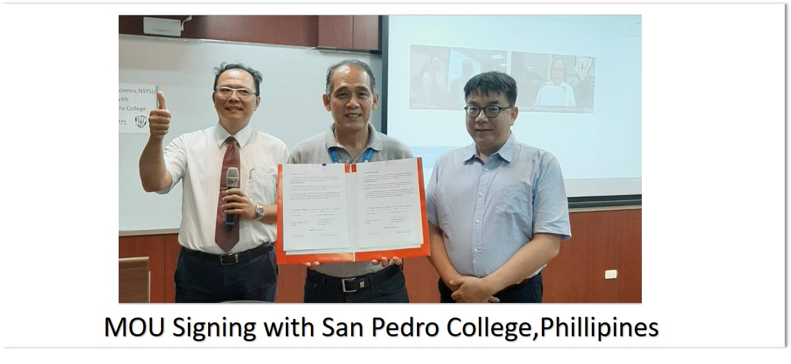 MOU Signing with San Pedro College,Phillipines